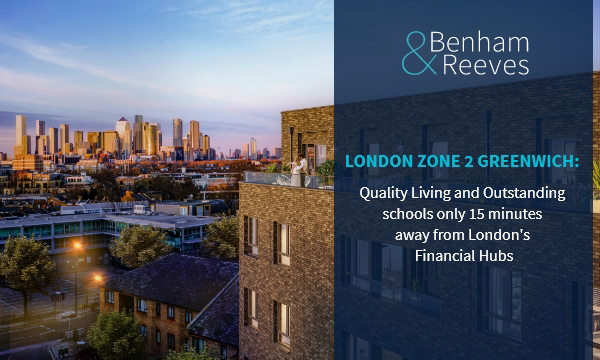 London Zone 2 Greenwich: Quality Living and Outstanding schools only 15 minutes away from London's Financial Hubs