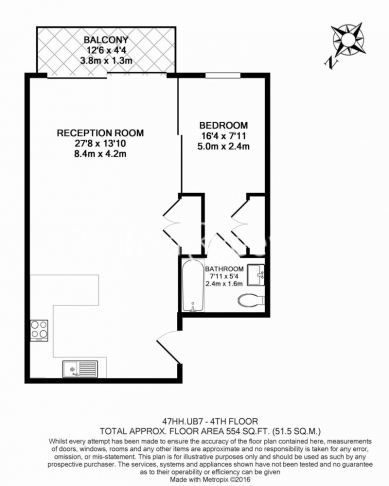 1 bedroom(s) flat to rent in Park Lodge Avenue, West Drayton, UB7-Floorplan