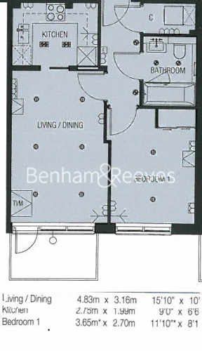 1 bedroom(s) flat to rent in Dickens Yard, Ealing, W5-Floorplan