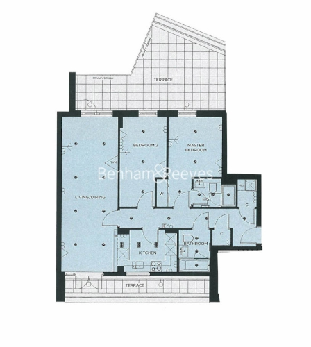 2 bedroom(s) flat to rent in Longfield Avenue, Ealing, W5-Floorplan