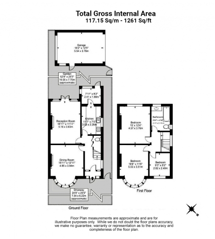 3 bedroom(s) house to rent in Kingfield Road, Ealing, W5-Floorplan