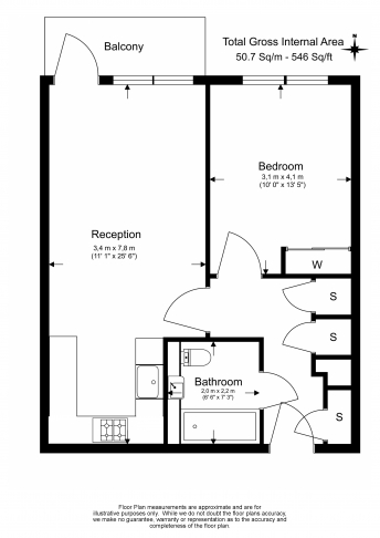 1 bedroom(s) flat to rent in Hargrave Drive, Harrow, HA1-Floorplan