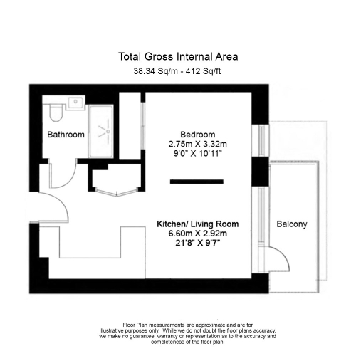 1 bedroom(s) flat to rent in Accolade Avenue, Southall , UB1-Floorplan
