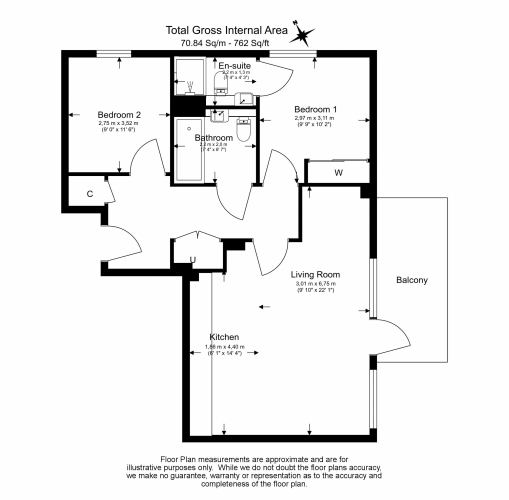 2 bedroom(s) flat to rent in Accolade Avenue, Southall, UB1-Floorplan