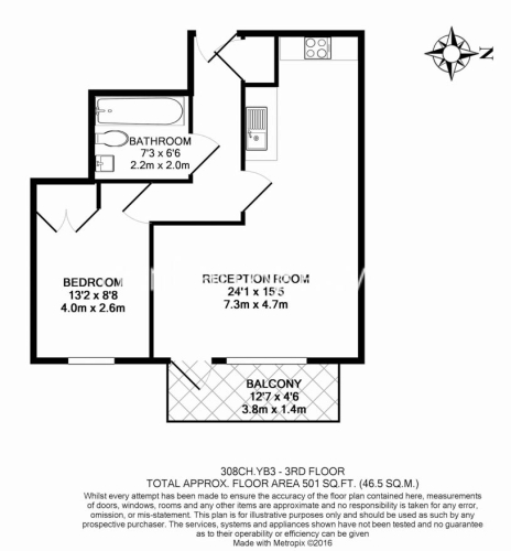 1 bedroom(s) flat to rent in Station Approach, Hayes, UB3-Floorplan