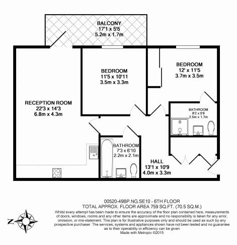 2 bedroom(s) flat to rent in Bessemer Place, North Greenwich, SE10-Floorplan