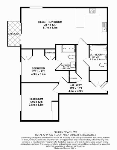 2 bedroom(s) flat to rent in Distillery Wharf, Hammersmith, W6-Floorplan