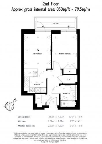 1 bedroom(s) flat to rent in Faulkner House, Fulham Reach, W6-Floorplan
