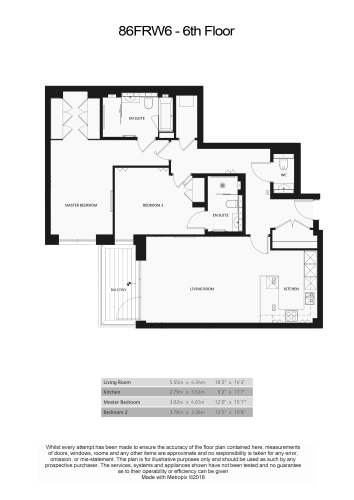2 bedroom(s) flat to rent in Faulkner House, Fulham Reach, W6-Floorplan