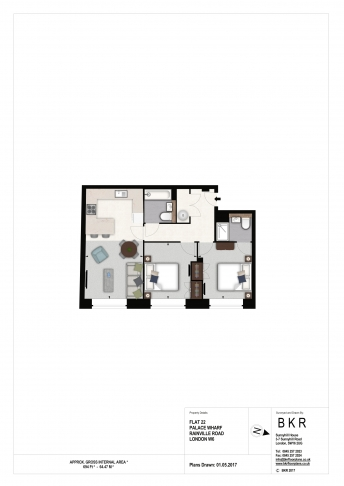 2 bedroom(s) flat to rent in Palace Wharf, Hammersmith, W6-Floorplan