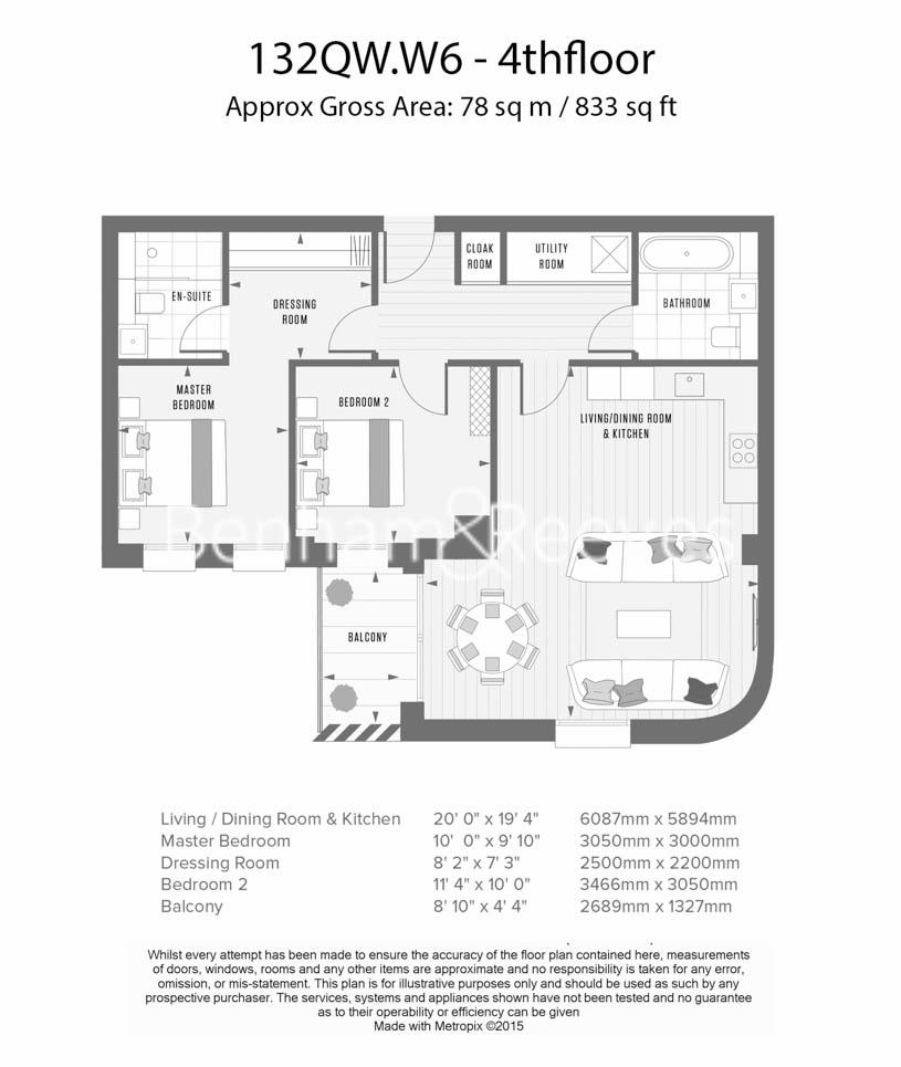 2 bedroom(s) flat to rent in Queens Wharf, Hammersmith, W6-Floorplan