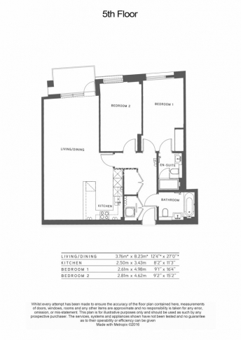 2 bedroom(s) flat to rent in Sovereign Court, Hammersmith, W6-Floorplan