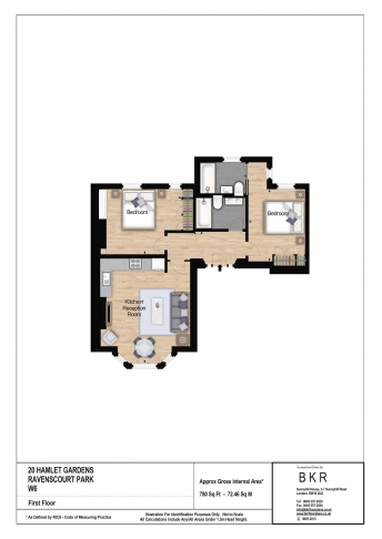 2 bedroom(s) flat to rent in Hamlet Gardens, Hammersmith, W6-Floorplan