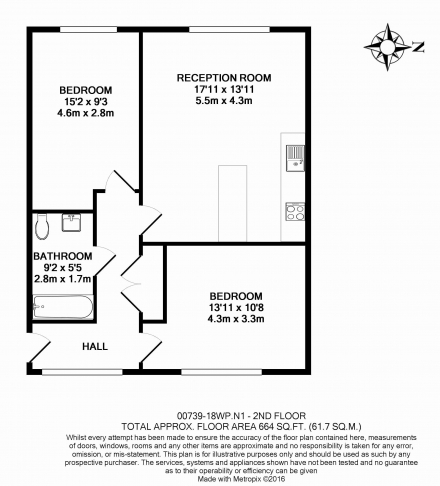 2 bedroom(s) flat to rent in Pegaso Building, Westland Place, N1-Floorplan