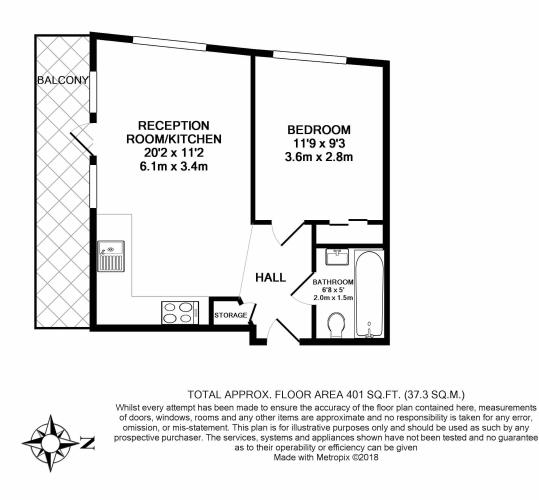 1 bedroom(s) flat to rent in Arboretum Place, Barking, IG11-Floorplan
