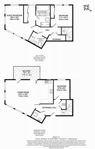 3 bedroom(s) flat to rent in New Drum Street, Aldgate, E1-Floorplan