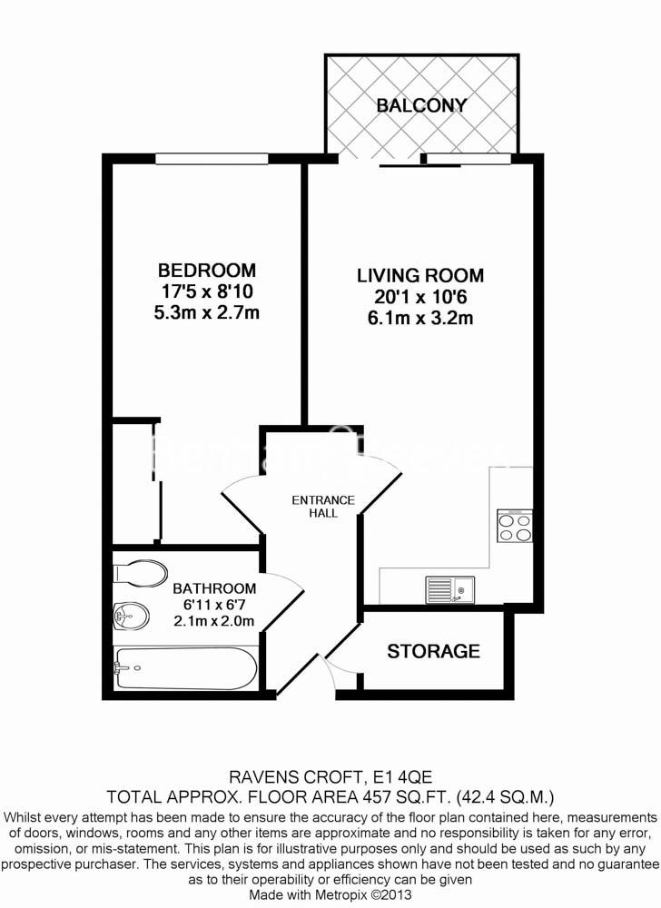 1 bedroom(s) flat to rent in Essian Street, Wapping, E1-Floorplan