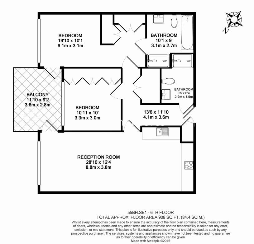 2 bedroom(s) flat to rent in Balmoral House, One Tower Bridge, SE1-Floorplan