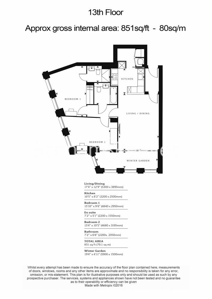 2 bedroom(s) flat to rent in Blackfriars Road, St Georges Circus, SE1-Floorplan