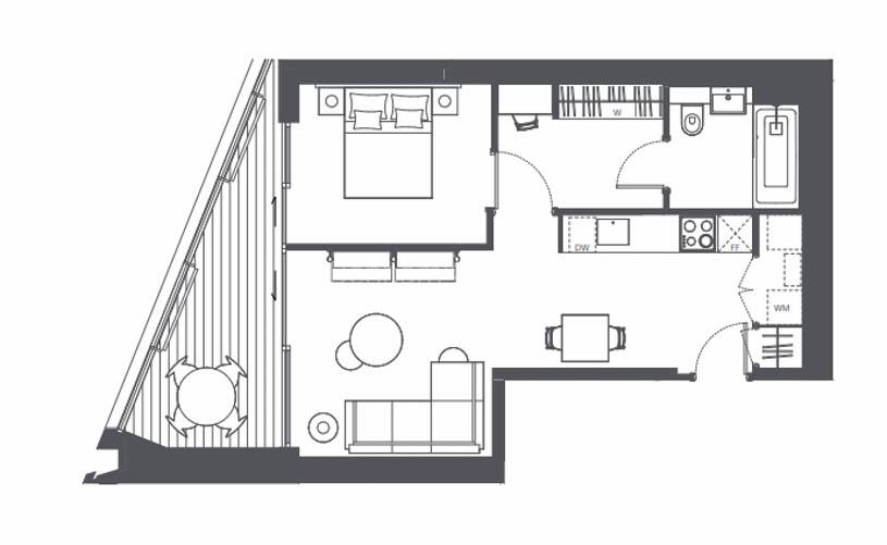 1 bedroom(s) flat to rent in Newington Causeway, Borough, SE1-Floorplan