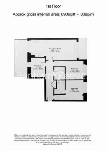 3 bedroom(s) flat to rent in Westland Place, Old Street, N1-Floorplan