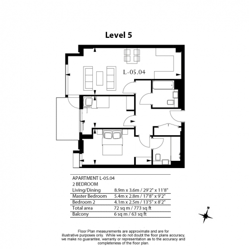 2 bedroom(s) flat to rent in Lavender Place, Royal Mint Gardens, E1-Floorplan