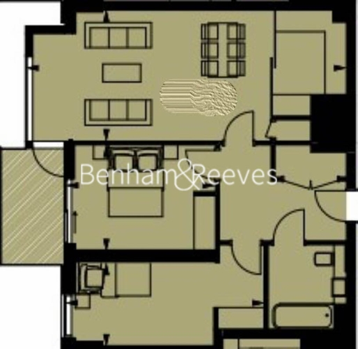 2 bedroom(s) flat to rent in Rosemary Building, Royal Mint Gardens, E1-Floorplan