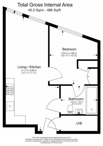 1 bedroom(s) flat to rent in Emery Wharf, London Dock, Wapping, E1W-Floorplan