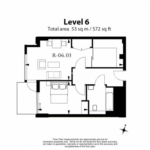1 bedroom(s) flat to rent in Rosemary Place, Royal Mint Gardens, E1-Floorplan