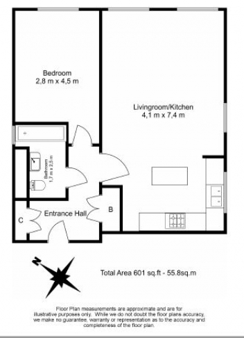 1 bedroom(s) flat to rent in Hillcrest Road, South Woodford, E18-Floorplan