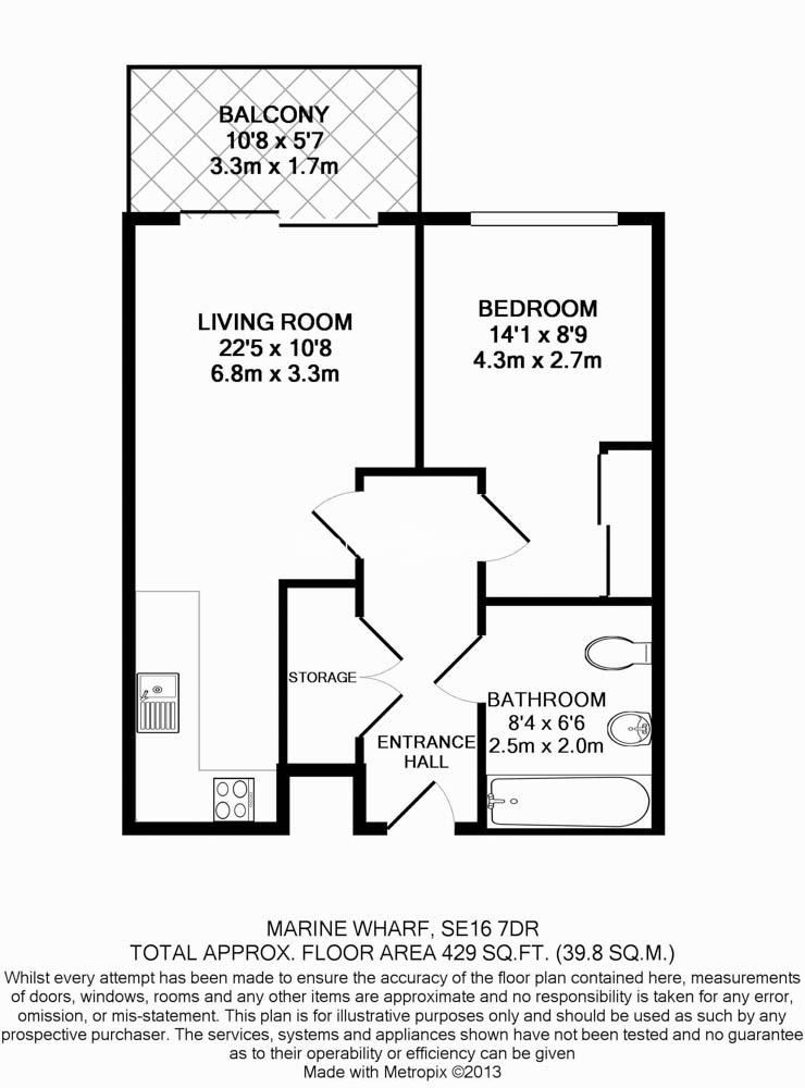1 bedroom(s) flat to rent in Seafarer Way, Surrey Quays, SE16-Floorplan