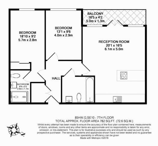 2 bedroom(s) flat to rent in Babbage Point, Surrey Quays, SE10-Floorplan