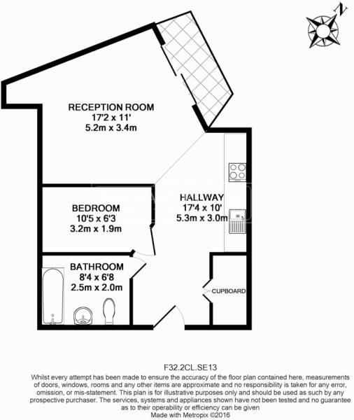 1 bedroom(s) flat to rent in Cornmill Lane, Surrey Quays, SE13-Floorplan