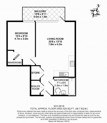 1 bedroom(s) flat to rent in Victory Parade, Woolwich, SE18-Floorplan