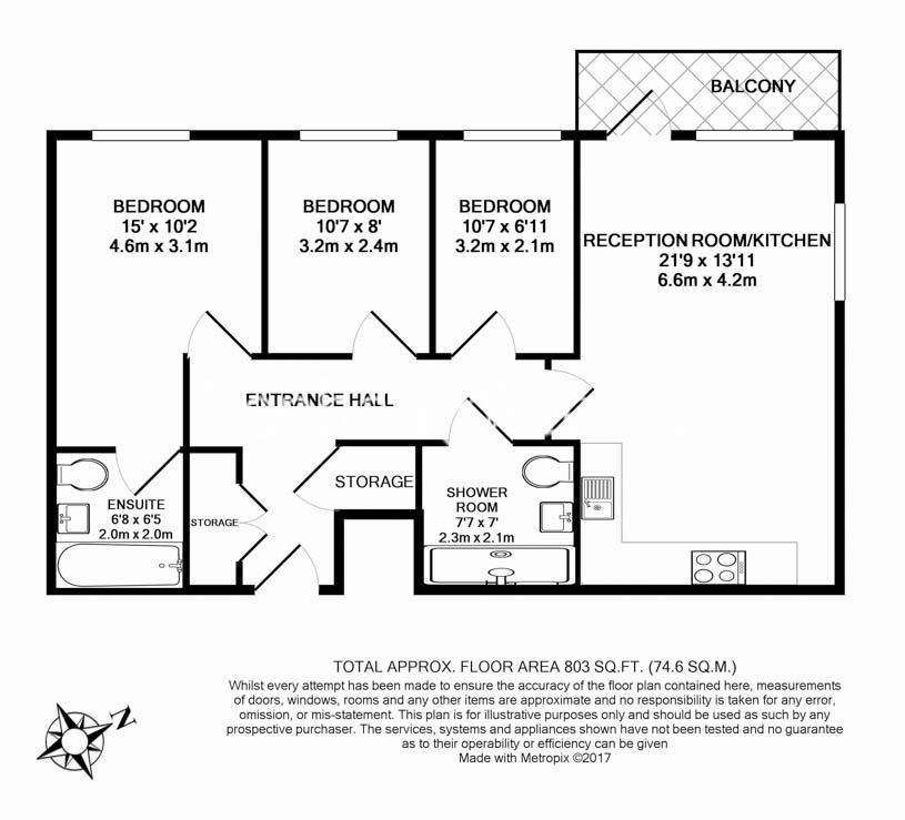 3 bedroom(s) flat to rent in Ashton Reach, Surrey Quays, SE16-Floorplan
