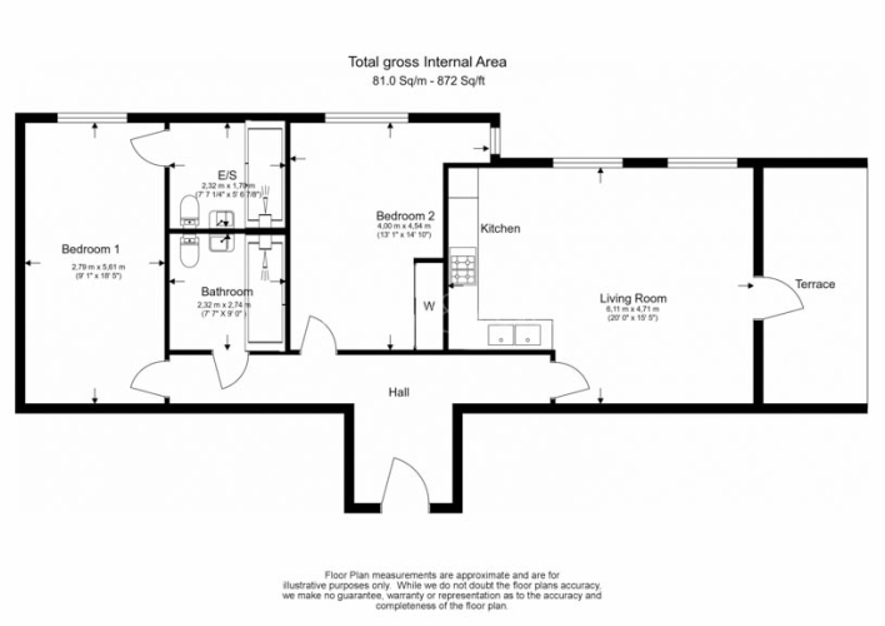 2 bedroom(s) flat to rent in Marine Wharf East, Surrey Quays, SE8-Floorplan