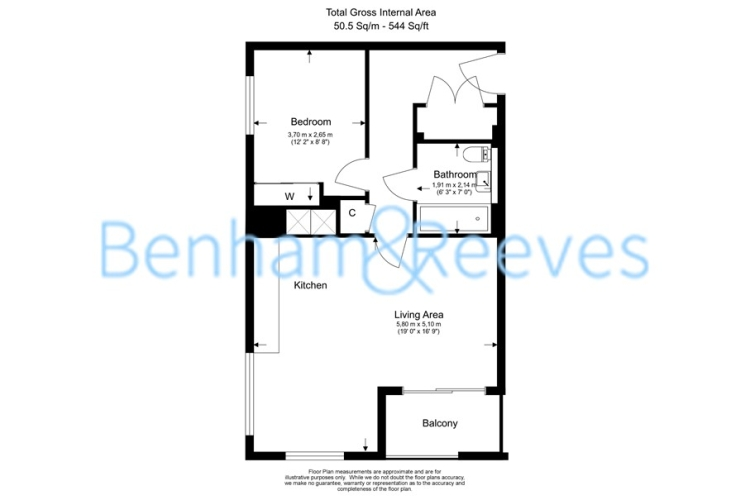 1 bedroom(s) flat to rent in Pump House Crescent, Brentford, TW8-Floorplan
