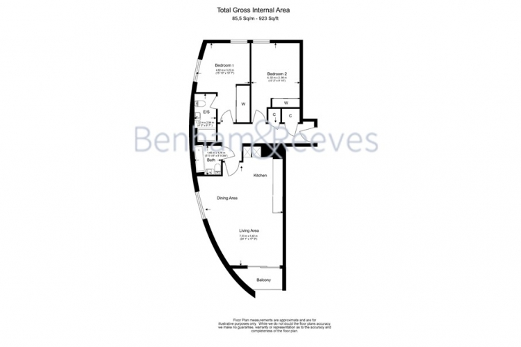 2 bedroom(s) flat to rent in Pump House Crescent, Brentford, TW8-Floorplan