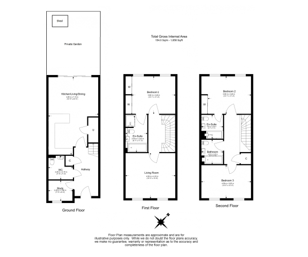 3 bedroom(s) house to rent in Richmond Chase, Richmond, TW10-Floorplan