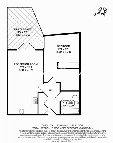 1 bedroom(s) flat to rent in Tooting High Street, Tooting, SW17-Floorplan