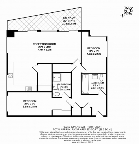 2 bedroom(s) flat to rent in Nine Elms Point, Nine Elms, SW8-Floorplan