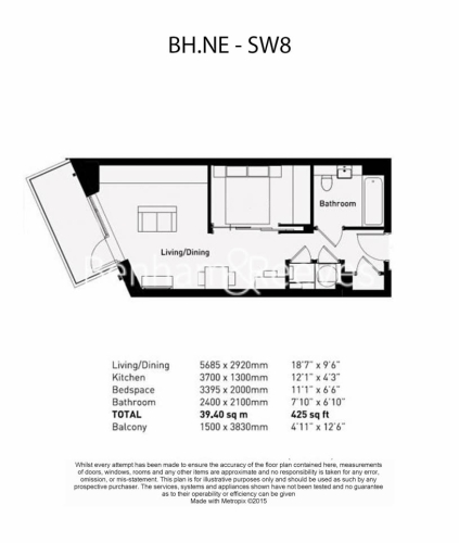 1 bedroom(s) flat to rent in Nine Elms Point, Nine Elms, SW8-Floorplan