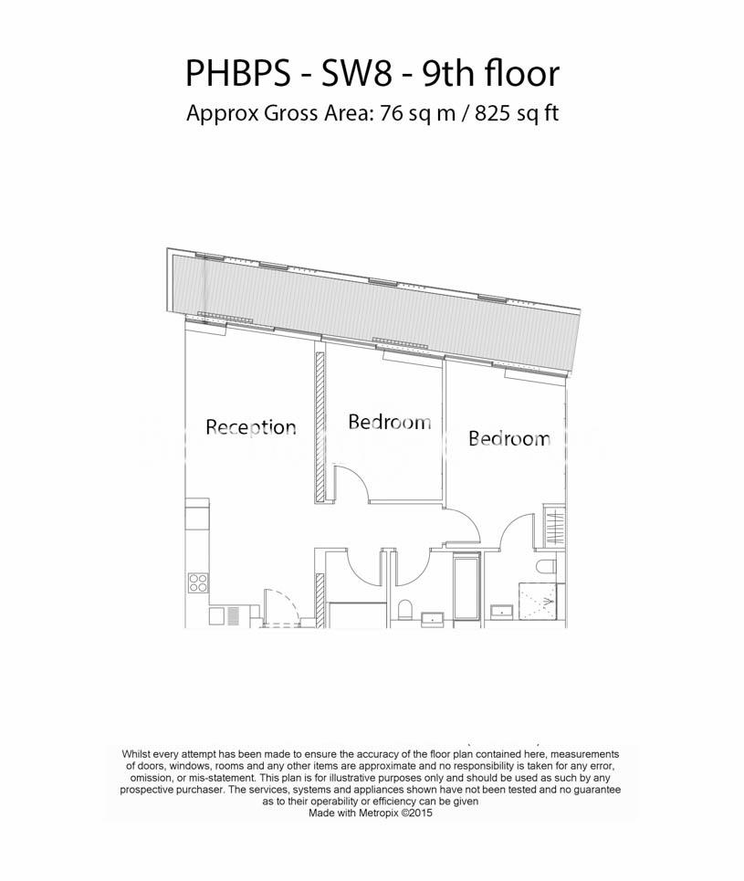 2 bedroom(s) flat to rent in Battersea Power Station, Nine Elms, SW8-Floorplan