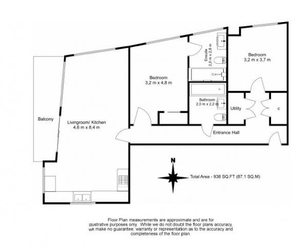 2 bedroom(s) flat to rent in Nine Elms Point, Nine Elms, SW8-Floorplan