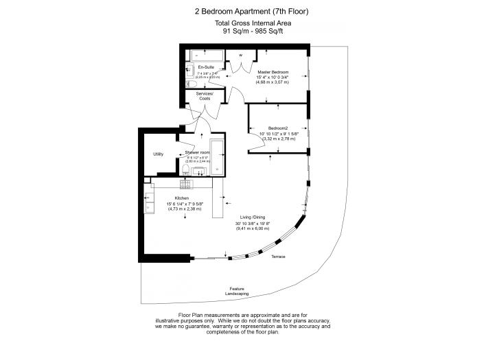 2 bedroom(s) flat to rent in Vista Chelsea Bridge, Nine Elms, SW11-Floorplan