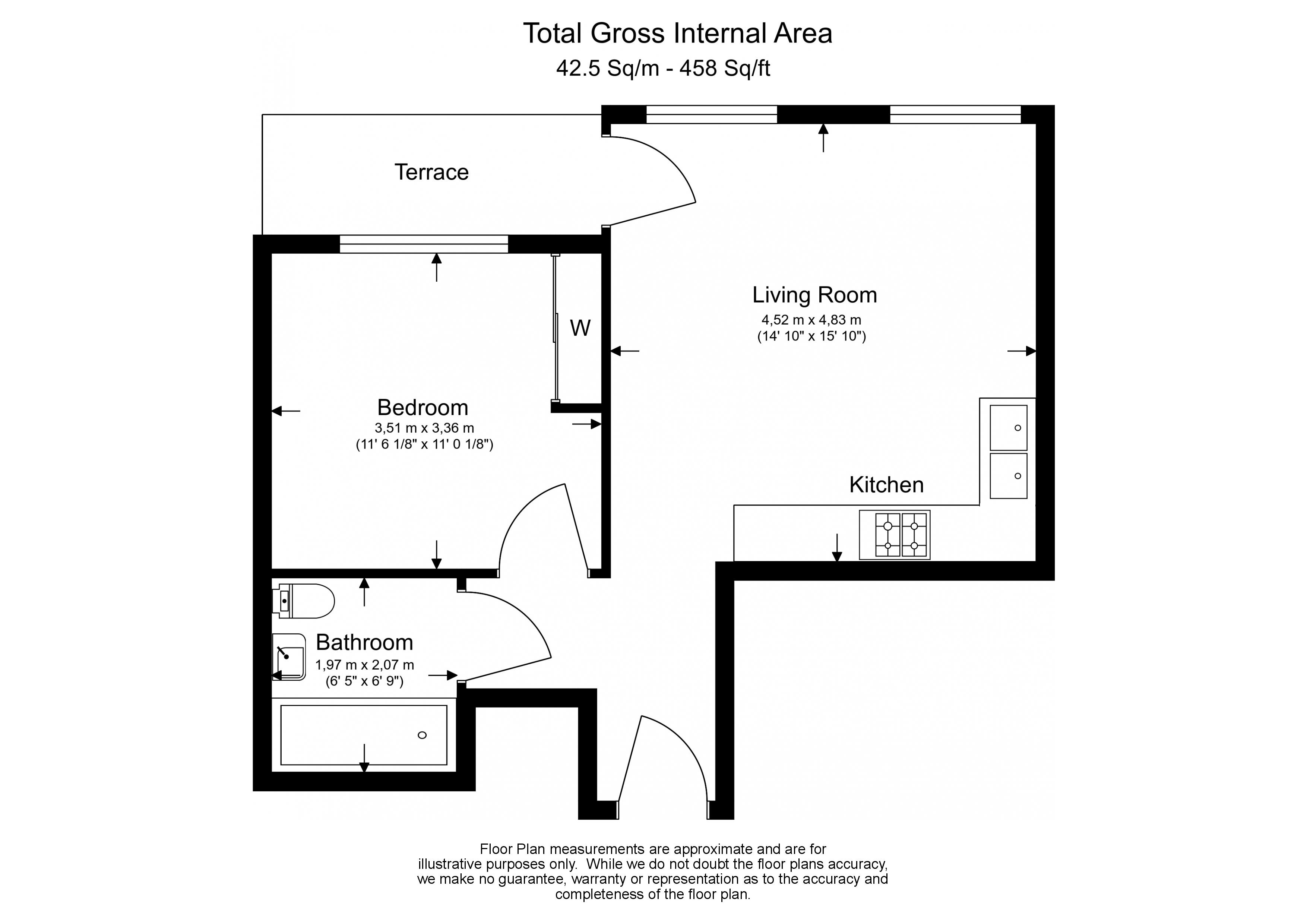 1 bedroom(s) flat to rent in Battersea Exchange, Nine Elms, SW8-Floorplan