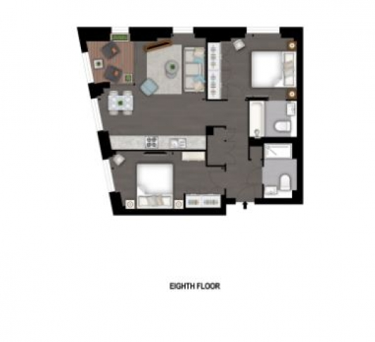 2 bedroom(s) flat to rent in Charles Clowes Walk, Nine Elms, SW11-Floorplan