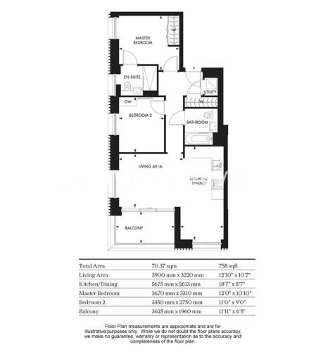 2 bedroom(s) flat to rent in Chartwell House, Palmer Road, SW11-Floorplan