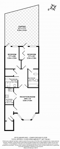 2 bedroom(s) flat to rent in Willoughby Road, Hampstead, NW3-Floorplan