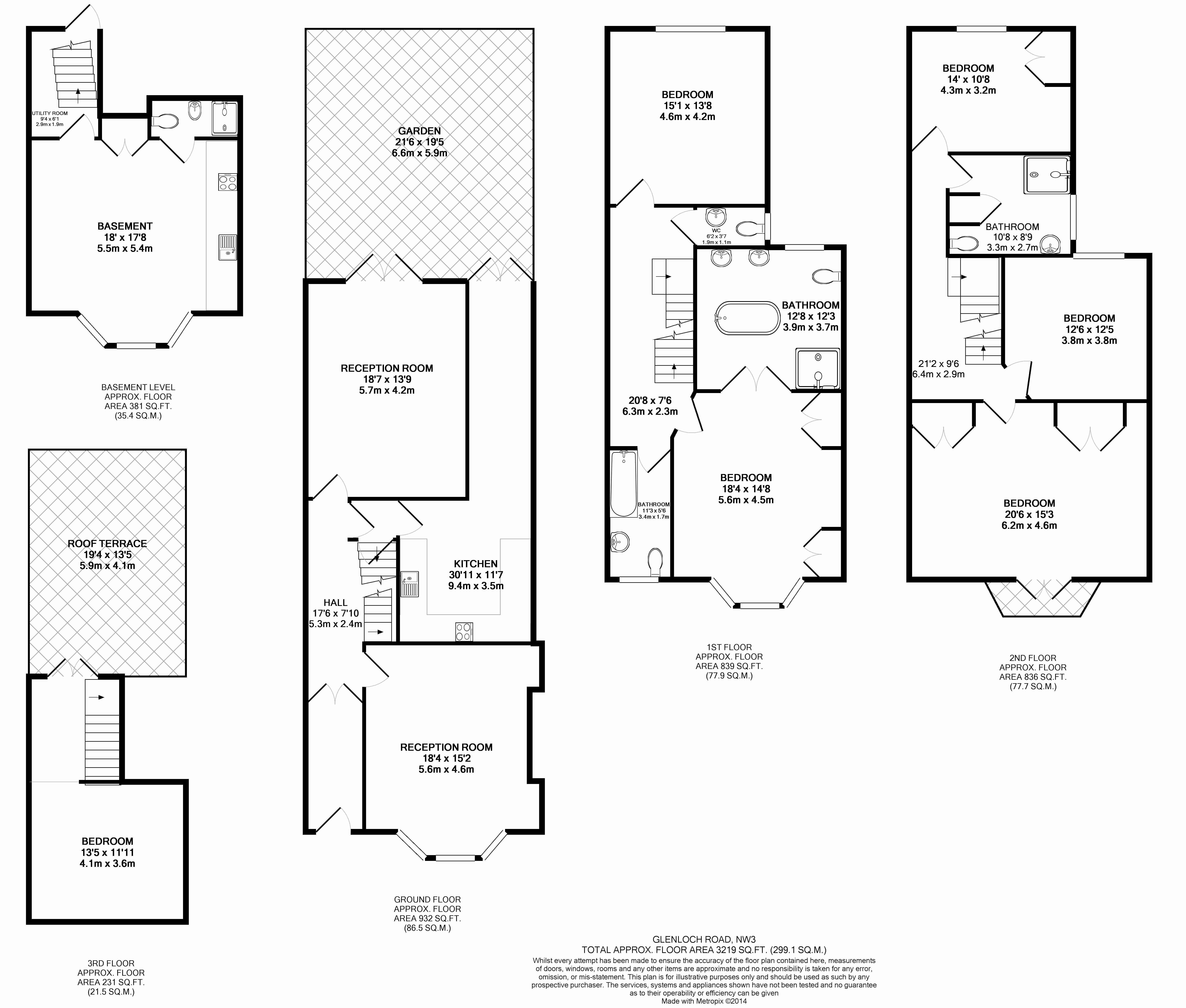 6 bedroom(s) house to rent in Glenloch Road, Hampstead, NW3-Floorplan
